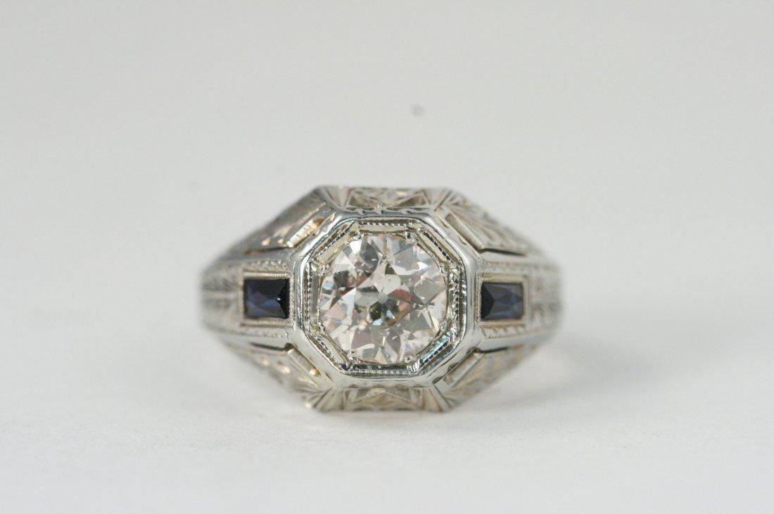 14K W/G ROUND CUT DIAMOND RING