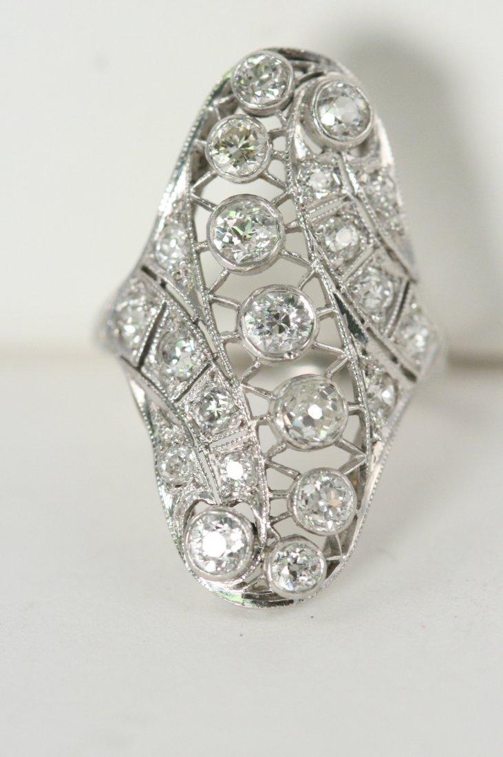 WHITE GOLD PLATINUM 2CT DIAMOND RING