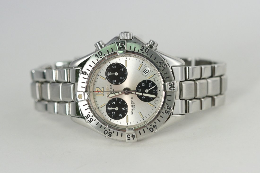 BREITLING COLT CHRONOGRAPH WATCH WITH SILVER DIAL