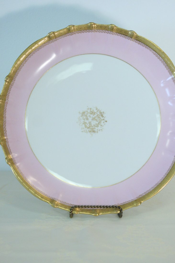 Breathtaking french pink and gilt banded Theo Haviland