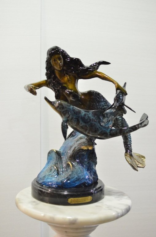 Mermaid bronze sculpture