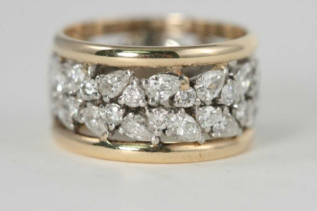 eternity diamond  gold ring