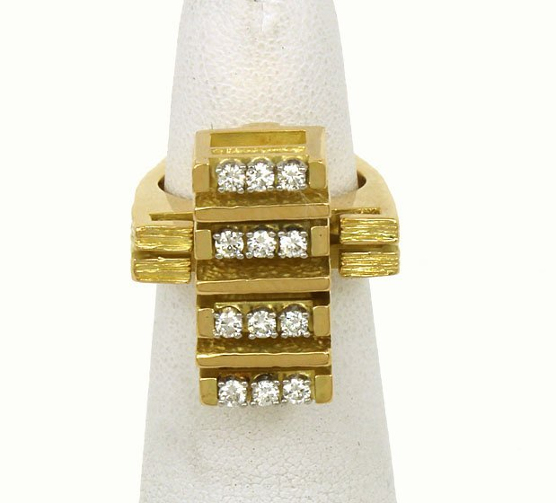 DESIGNER CARTIER 18K GOLD & 36 PTS. DIAMONDS LADIES