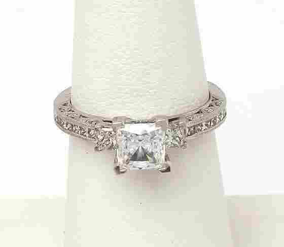 TACORI PLAT 64 PTS. DIAMONDS RING MOUNTING