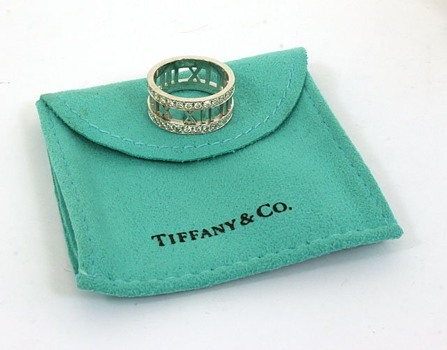 DESIGNER TIFFANY & CO. 18K GOLD & DIAMONDS LADIES ATLAS