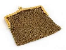 1920's 14K GOLD TOURMALINE HAND MADE LADIES PURSE BAG