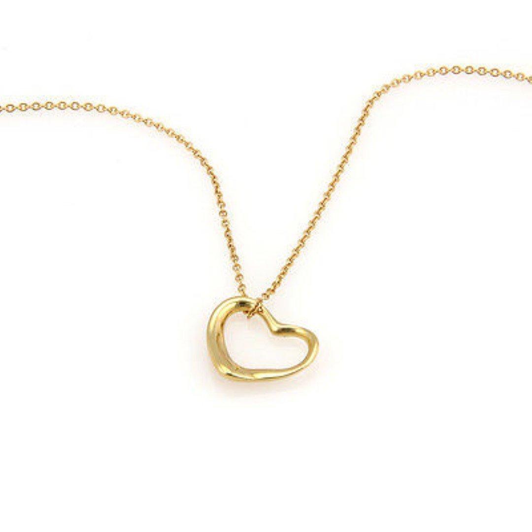Tiffany& Co. Peretti 18K Yellow Gold Open Heart Pendant