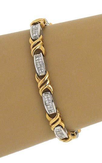 2-TONE 18K GOLD & 2.50 CTS DIAMONDS LADIES BRACELET