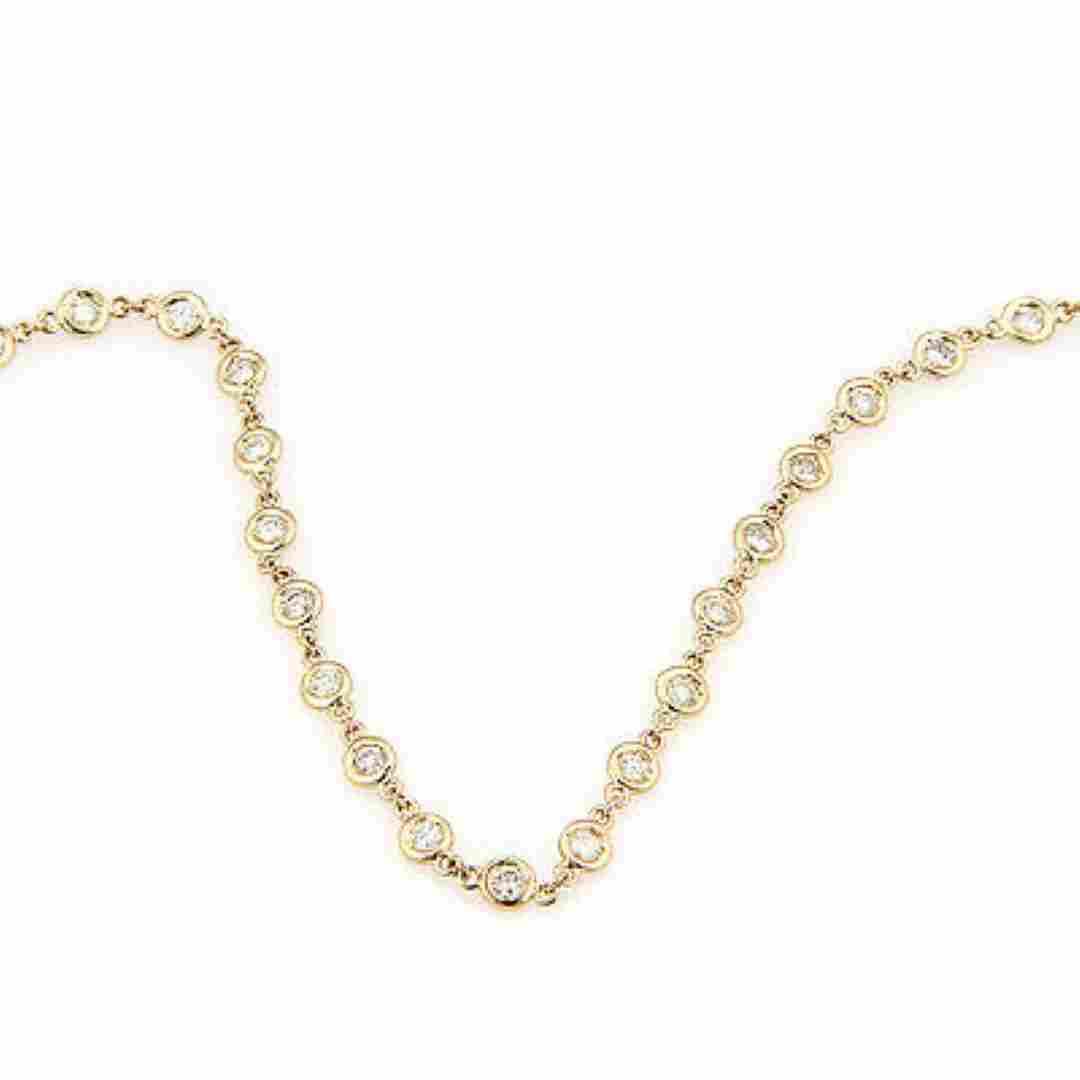 NEW14K Yellow Gold 4.05ct Diamonds By The Yard Eternity