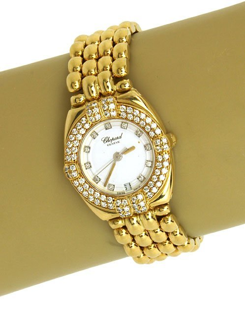 CHOPARD 18K SOLID GOLD& 85 PTS. DIAMONDS LADIES WRIST