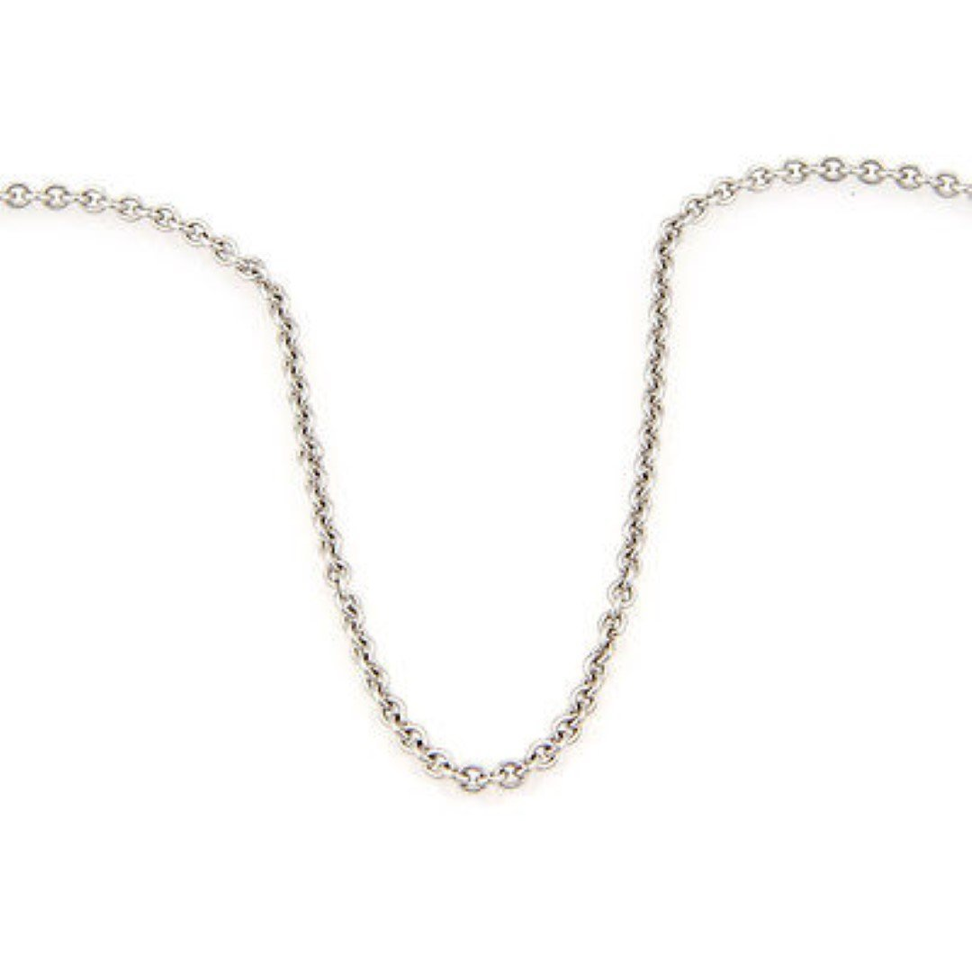 """Cartier18K White Gold Chain Link Necklace 16.5"""""""