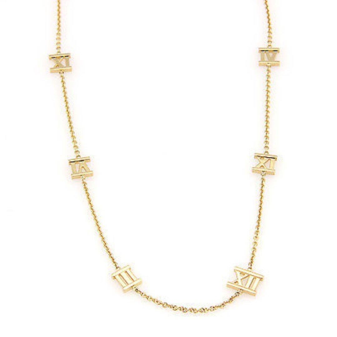 Tiffany& Co. Italy 18K Yellow Gold ATLAS Designer