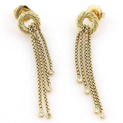 DavidYurman 18K Yellow Gold Silk Tassel Diamond Dangle