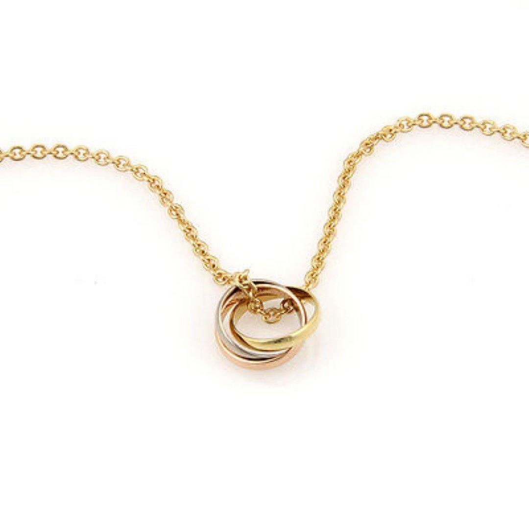 Cartier 18K Tri Color Gold Trinity Love Ring Pendant