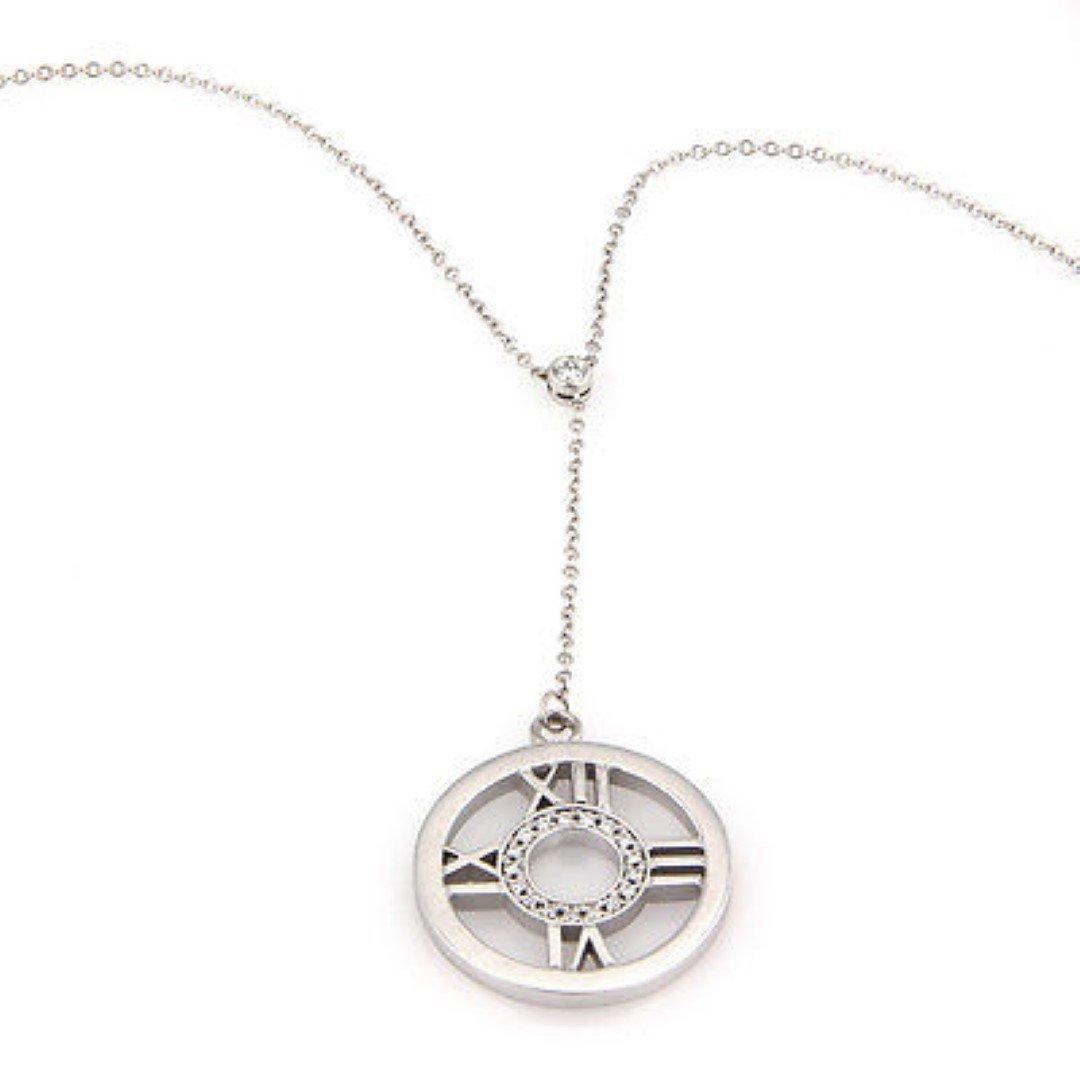 Tiffany & Co. 18K White Gold Diamond ATLAS Pendant