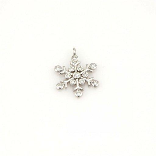 ca9b2d9040ec9 TIFFANY & CO. PLATINUM DIAMOND SNOWFLAKE DESIGNER