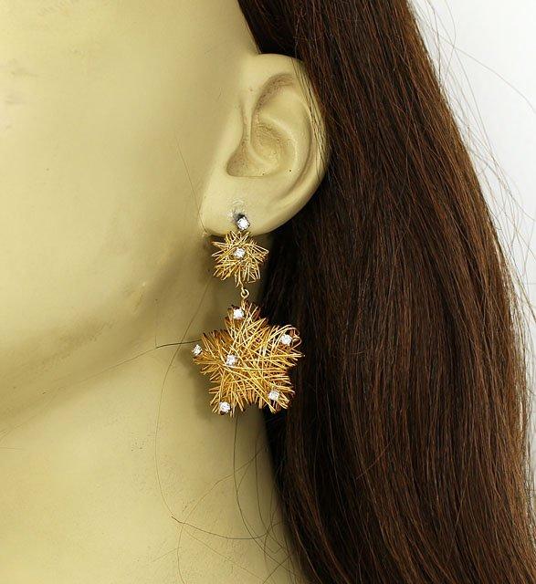AMAZING 18K GOLD & 1 CT DIAMONDS LADIES 3D WIRE FORM