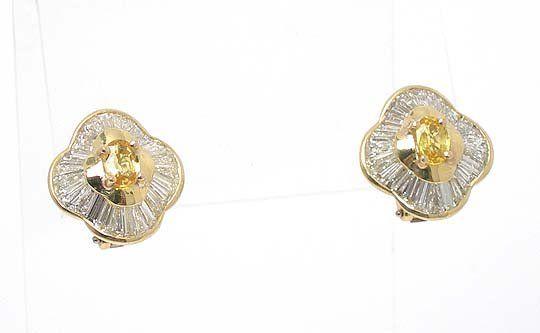 DESIGNER BVLGARI 18k GOLD 4 CTS DIAMONDS & YELLOW