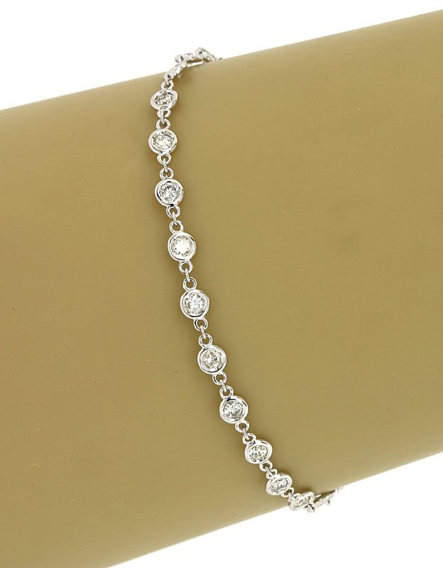 NEW 14K WHITE GOLD 1.2 CTS DIAMONDS BY THE YARD LADIES