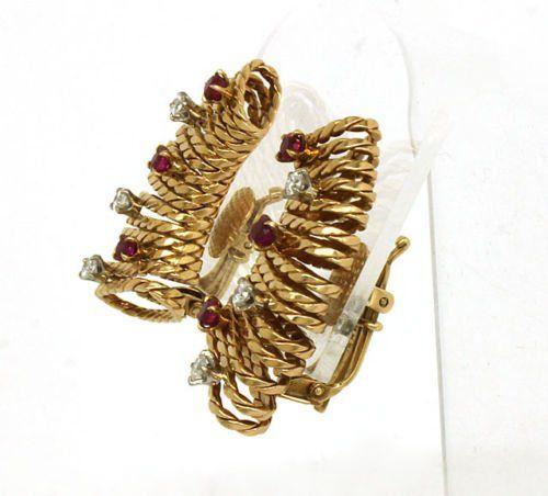 VINTAGE 1940'S DESIGNER TIFFANY & CO 14K GOLD, DIAMONDS