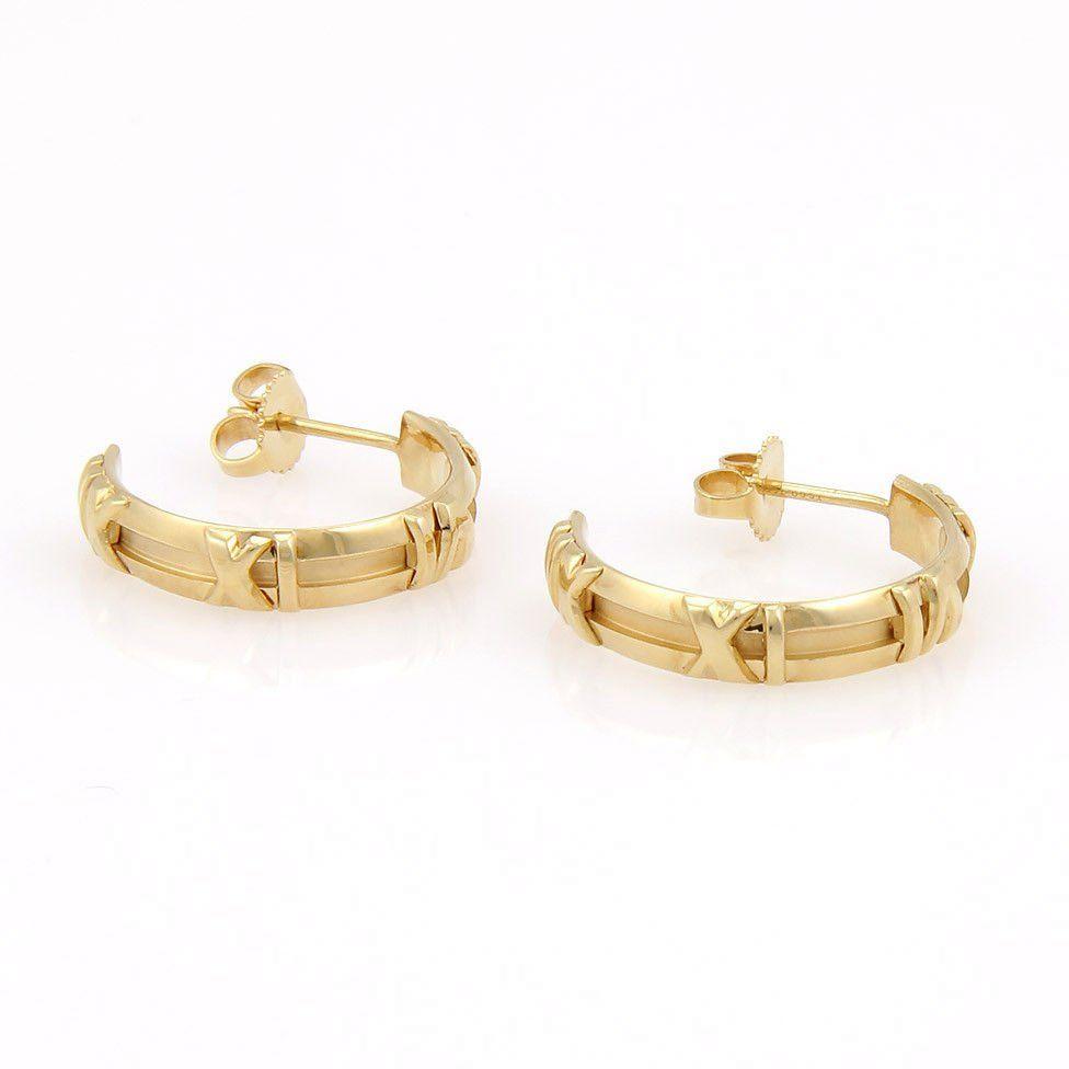 Tiffany & Co. 18K Yellow Gold ATLAS Numerical Hoop