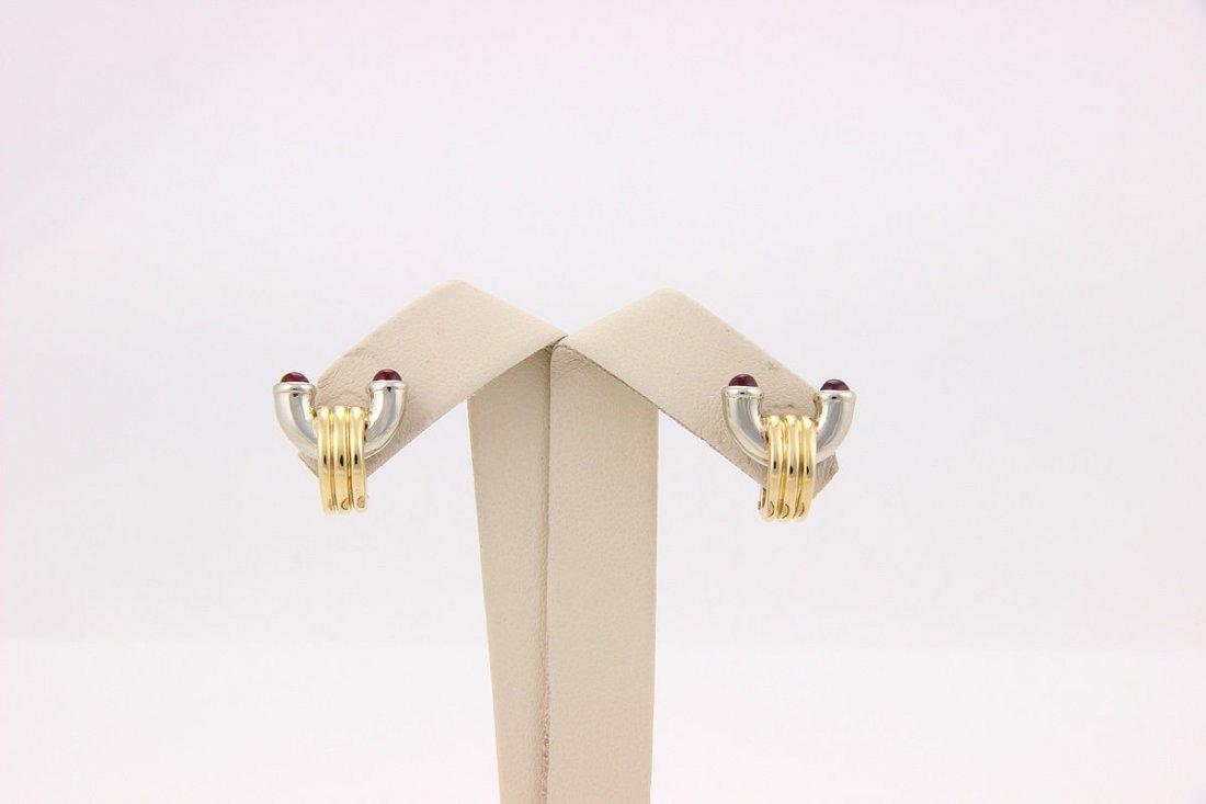 Bvlgari Bulgari 18K White and Yellow Gold Ruby Clip On