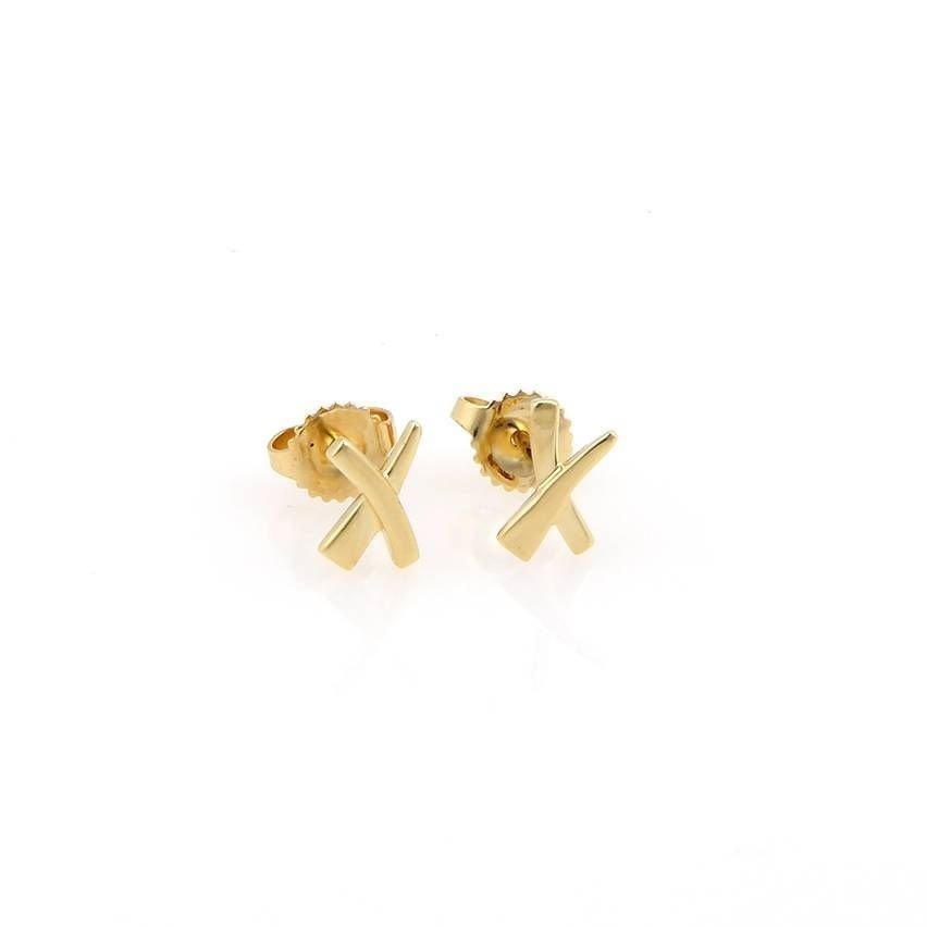 """Tiffany & Co Paloma Picasso 18kt Yellow Gold Kiss """"X"""""""