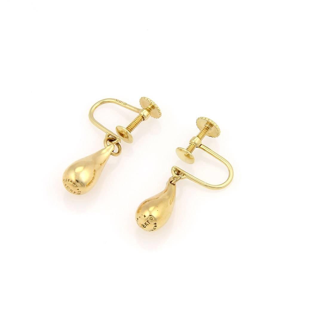 Tiffany & Co Elsa Peretti 18kt Yellow Gold Tear Drop