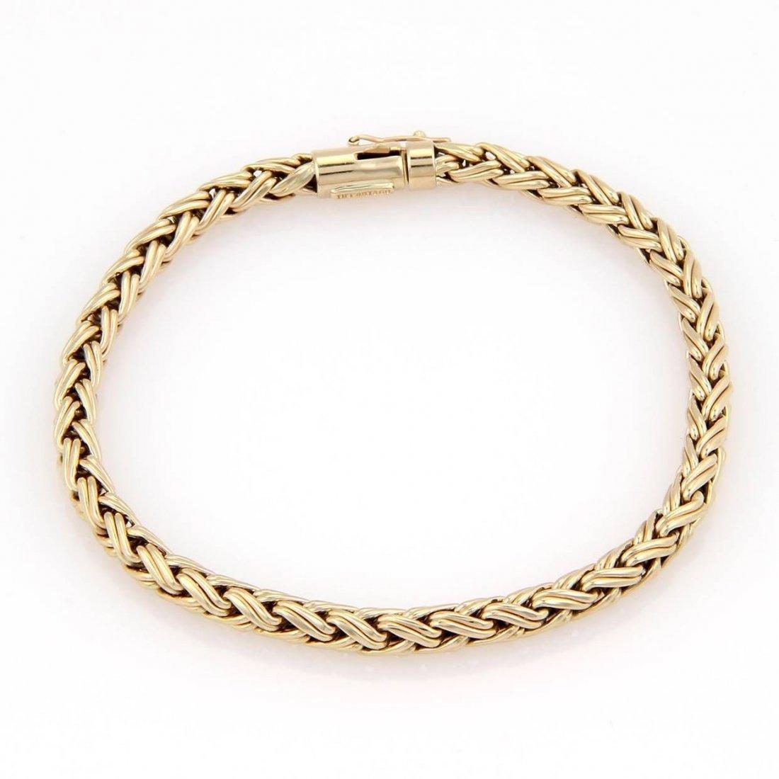 Tiffany & Co 14kt Yellow Gold Russian Weave Bracelet