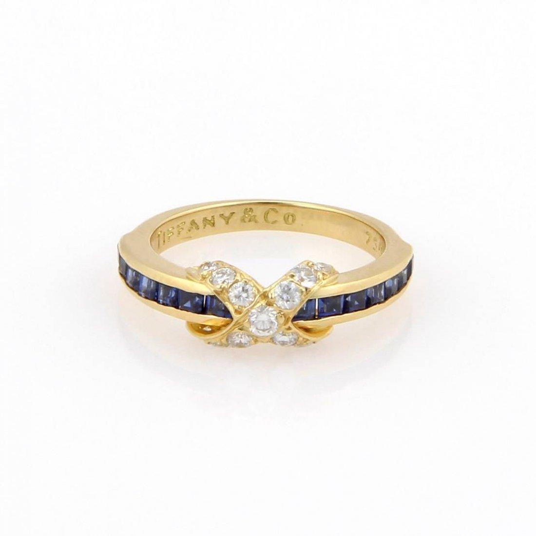 Tiffany & Co. 18K Yellow Gold Sapphire & Diamond