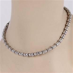 Charles Krypell 18K White Gold Heavy 6ct Diamond Link
