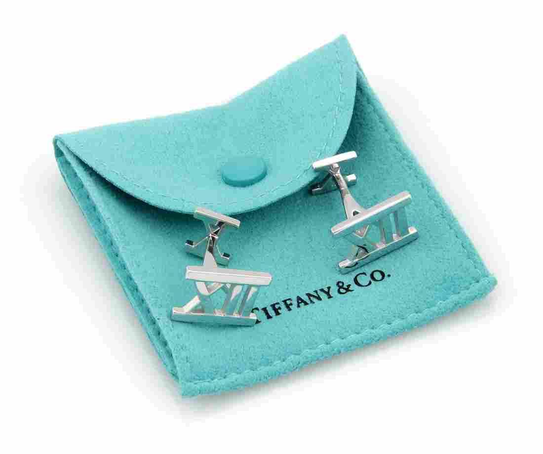 Tiffany & Co. Italy 18K White Gold ATLAS Designer