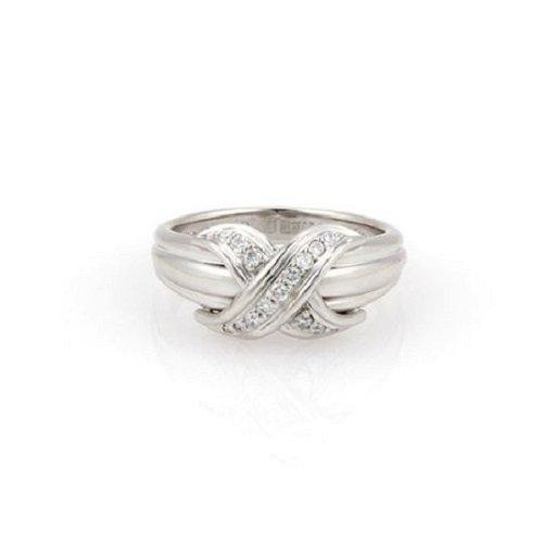 b409e851c Tiffany & Co. 18K White Gold Diamond Signature X Ring - Oct 26, 2014 ...