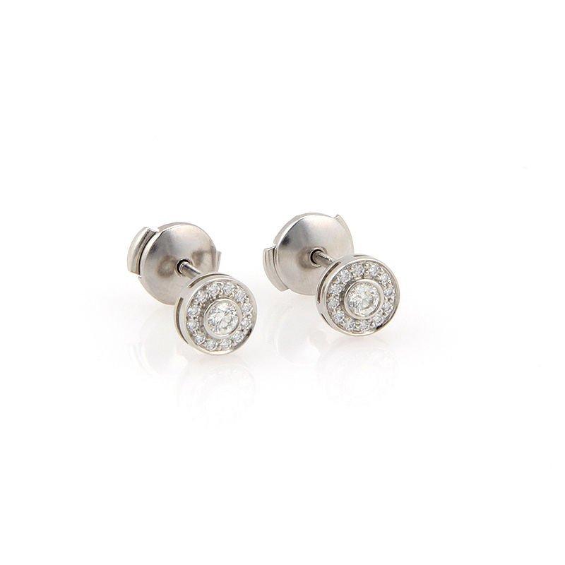Tiffany & Co. Platinum Circlet Mini Diamond Earrings
