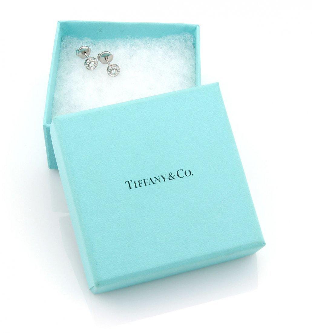 Tiffany & Co. Platinum Circlet Mini Diamond Earrings - 2