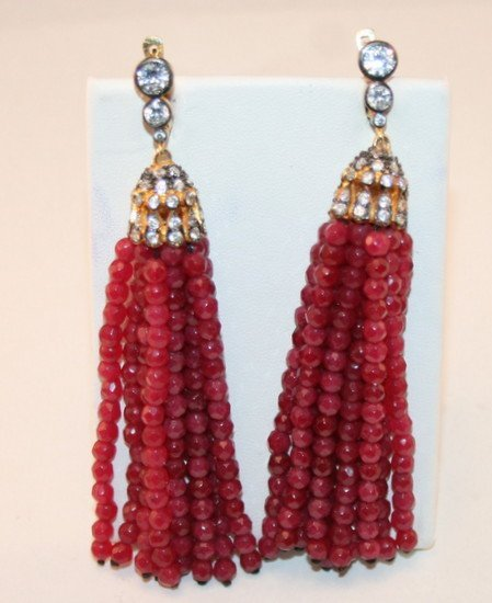 STUNNING RUBY EARRINGS