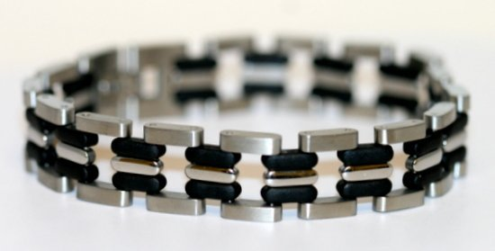 SOLID MEN'S STAINLESS STEEL BRACELET