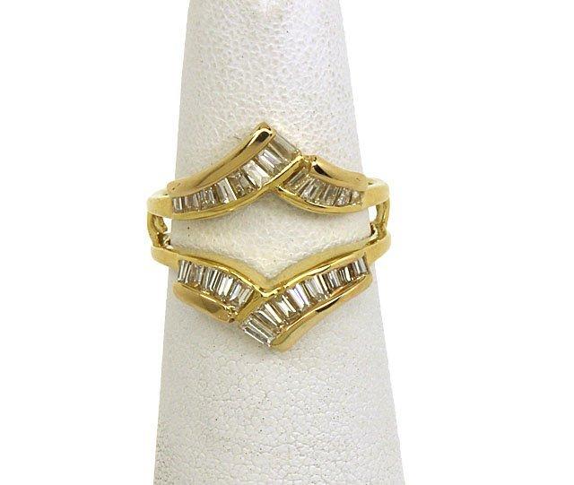 VINTAGE 18K GOLD & SPARKLING DIAMONDS LADIES SOLITAIRE