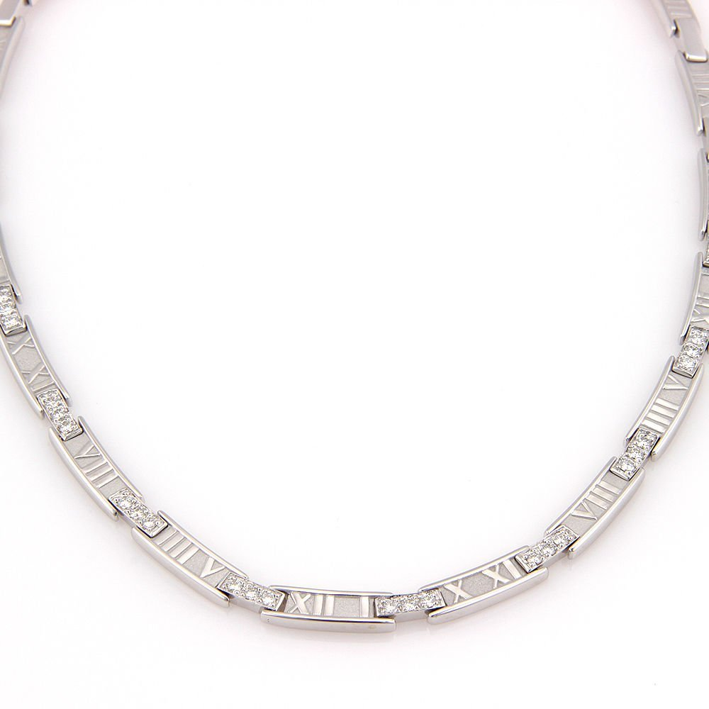 Tiffany & Co. 18K White Gold ATLAS Numerical Diamond