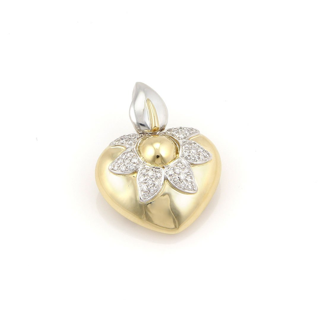 Chimento 18K Yellow Gold Diamond Flower Heart Designer