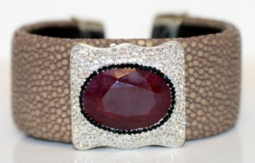 DESIGNER RUBY BANGLE BRACELET