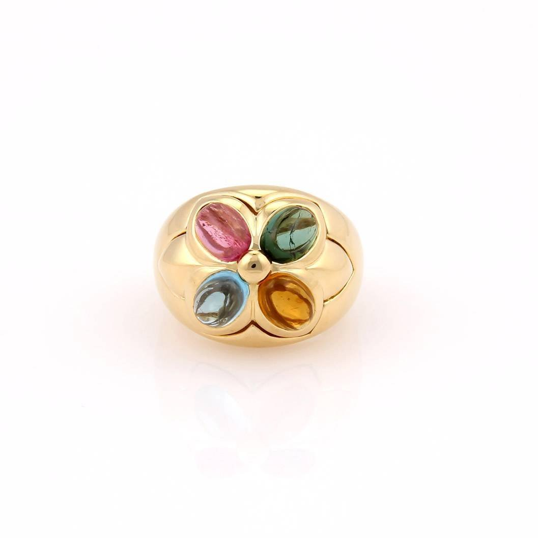Bvlgari Bulgari 18K Yellow Gold Multi Colored Gemstone