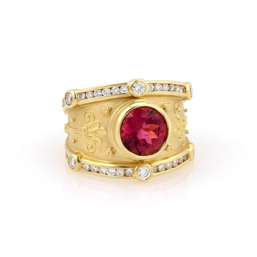 Seidengang 18K Yellow Gold Pink Tourmaline & Diamond