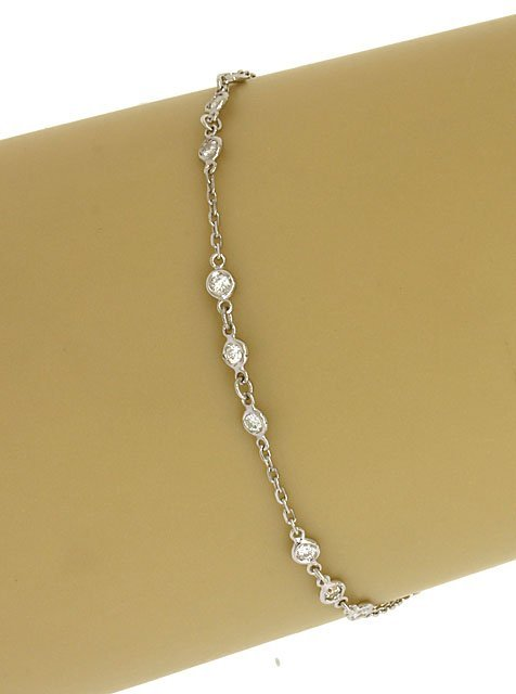14K WHITE GOLD & 50 PTS. DIAMONDS BY THE YARD LADIES