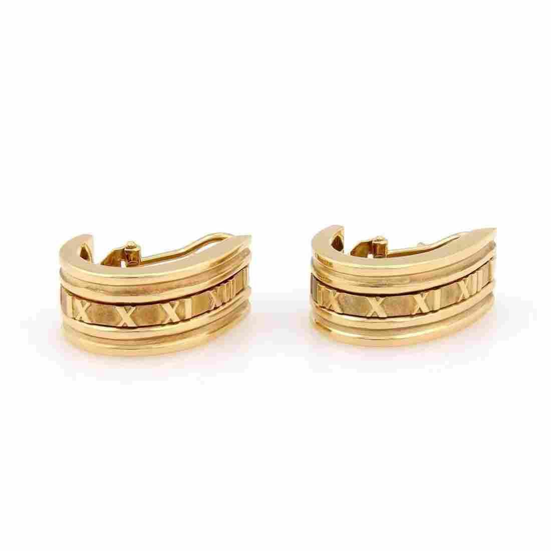 Tiffany & Co. Italy 18K Yellow Gold ATLAS Huggie