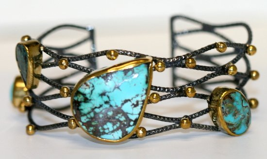 PERSIAN TURQUOISE DESIGNER BANGLE BRACELET