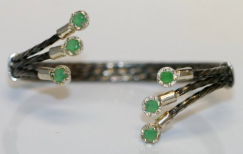 BEAUTIFUL EMERALD BANGLE BRACELET