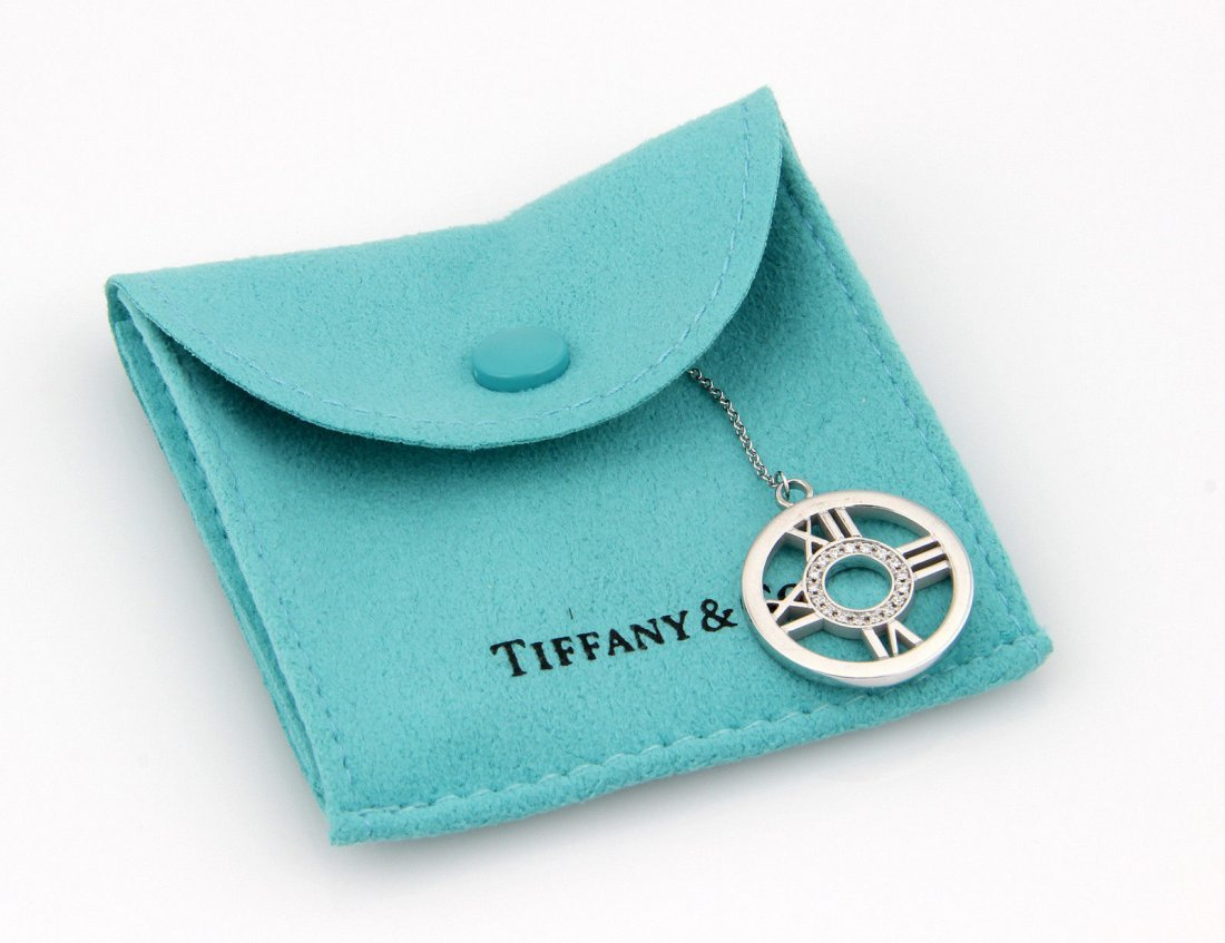Tiffany & Co. 18K White Gold Diamond Circle ATLAS
