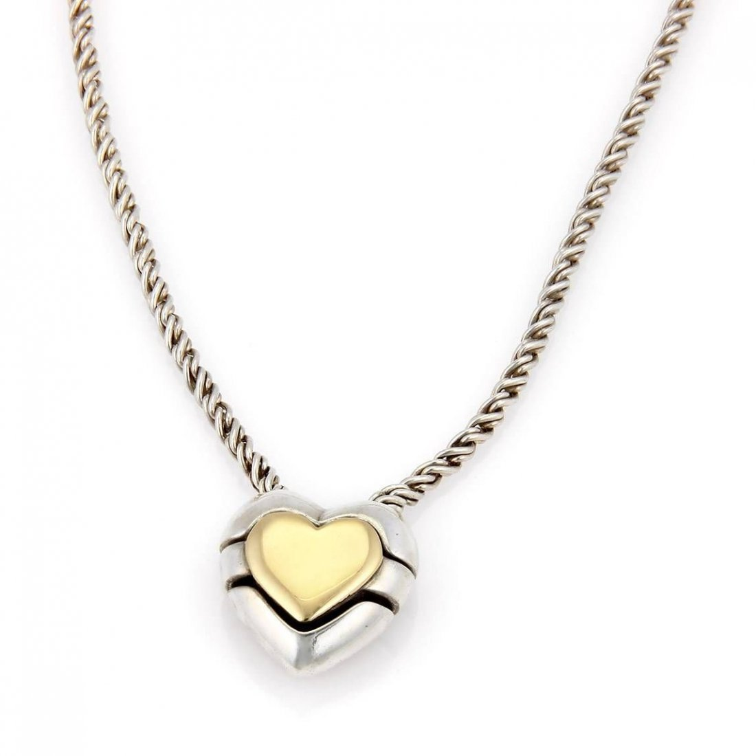 Tiffany & Co. 18kt Y/Gold 925 Silver Slider Heart