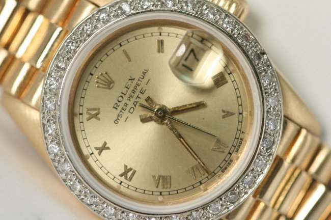 ROLEX LADIES GOLD ROLEX